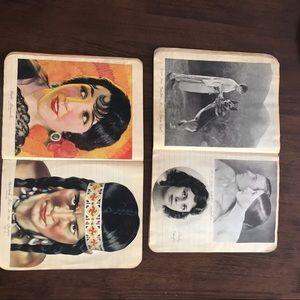 Two vintage Composition Books Actor portraits